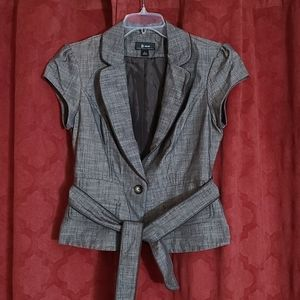 B Wear Women's L single Button Blazer with Belt